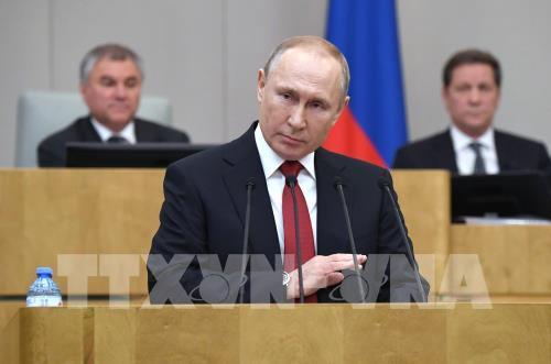 Tổng thống Nga ký ban hành luật sửa đổi Hiến pháp