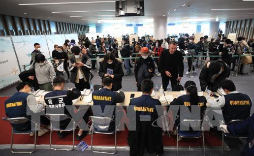 Dịch COVID-19: Hàn Quốc tiến hành kiểm tra y tế đặc biệt đối với người nhập cảnh