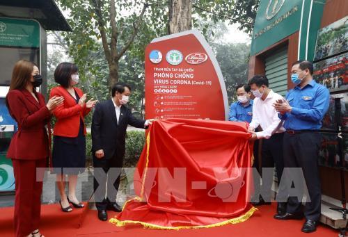 Dịch COVID-19: Lắp đặt 100 trạm rửa tay miễn phí phục vụ người dân
