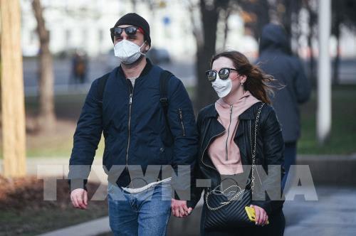 Số ca mắc COVID-19 trong ngày tại Nga tăng cao kỷ lục