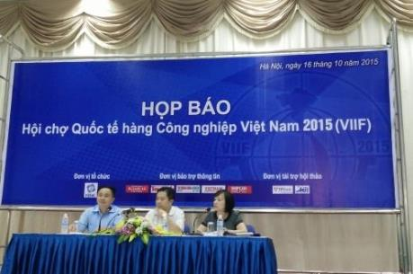 Hội chợ quốc tế Hàng công nghiệp Việt Nam sẽ diễn ra tại Hà Nội từ 20/10