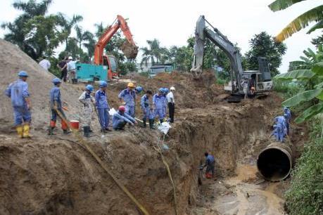Dự án nước sông Đà 2: Tạm dừng ký hợp đồng với nhà thầu cung cấp ống gang dẻo