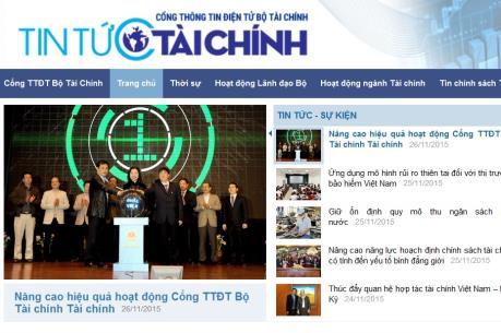 Khai trương giao diện mới Cổng Thông tin điện tử Bộ Tài chính