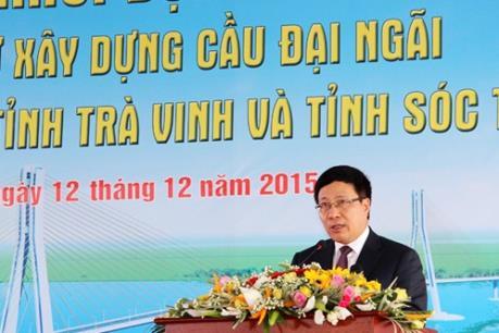 Khởi động dự án đầu tư xây dựng cầu Đại Ngãi nối hai tỉnh Sóc Trăng và Trà Vinh