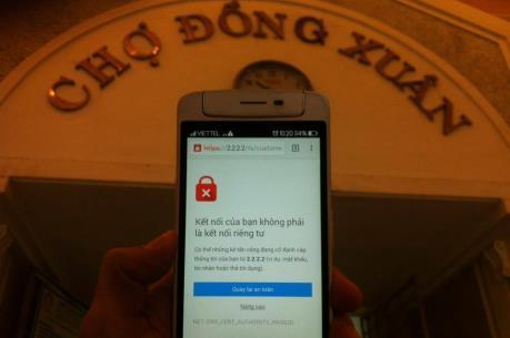 Wifi chợ Đồng Xuân lúc có lúc không