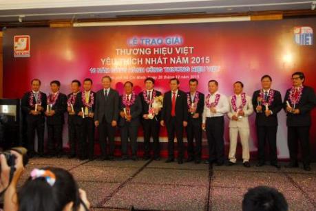 Vinh danh 35 thương hiệu Việt được yêu thích nhất năm 2015