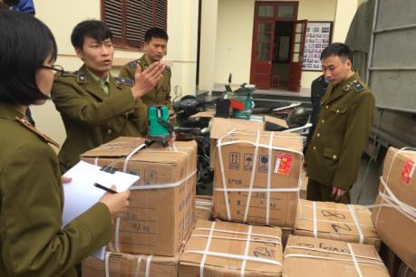 Bắc Ninh thu giữ gần 70 tấn hàng nghi buôn lậu
