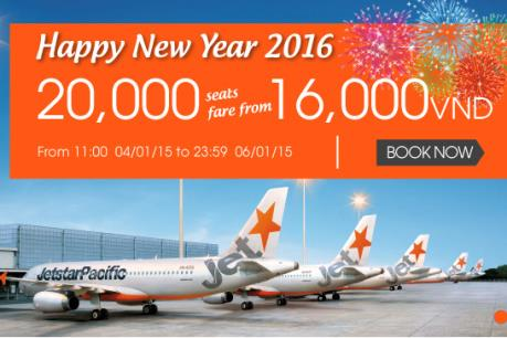 Jetstar khuyến mại 20.000 vé máy bay giá siêu rẻ