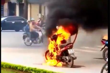Thực hư vụ cháy xe máy ở Thái Bình