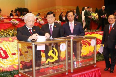 Đại hội Đảng: Tiến hành bỏ phiếu bầu cử Ban Chấp hành Trung ương khóa XII