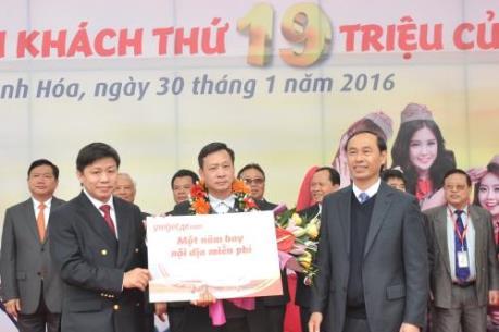 Vietjet Air chào đón hành khách thứ 19 triệu