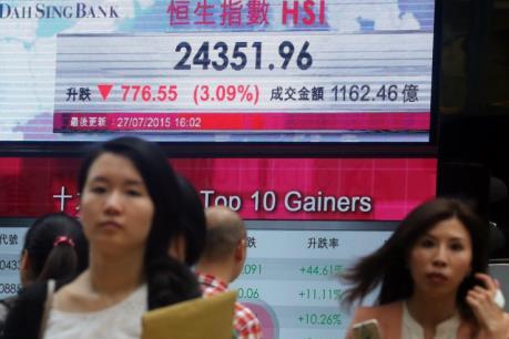 Sắc đỏ chi phối thị trường chứng khoán châu Á