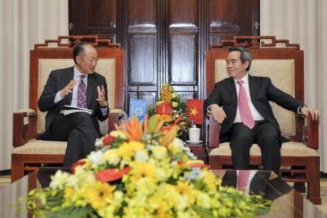Thống đốc Ngân hàng Nhà nước Việt Nam tiếp Chủ tịch Ngân hàng Thế giới
