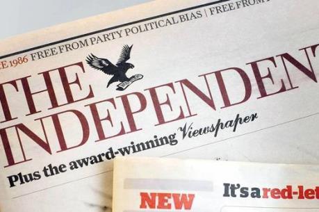 """Tờ """"The Independent"""" của Anh ngừng phát hành báo giấy"""