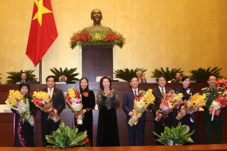 Kỳ họp thứ 11, Quốc hội khóa XIII: Công bố kết quả bầu các phó chủ tịch Quốc hội