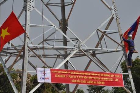 Đóng đường dây sẵn sàng nhận điện từ Lào
