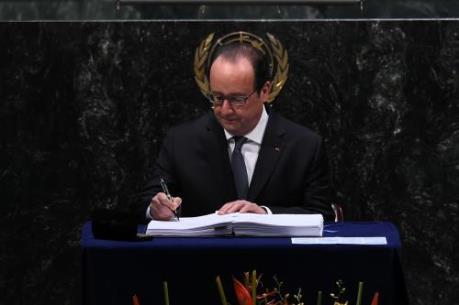 175 nước ký kết Hiệp định Paris về biến đổi khí hậu