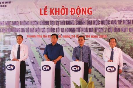 Hoàn thiện nút giao cổng chính Đại học Quốc gia Tp. Hồ Chí Minh