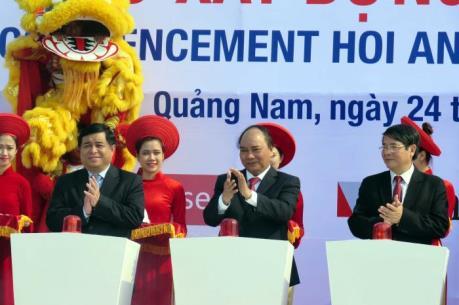 Thủ tướng Nguyễn Xuân Phúc phát lệnh khởi công một số dự án trọng điểm tại Quảng Nam