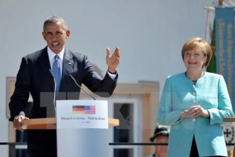 Tổng thống Mỹ và Thủ tướng Đức ủng hộ thúc đẩy TTIP