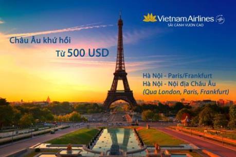 Vietnam Airlines khuyến mãi đặc biệt đối với các đường bay tới châu Âu