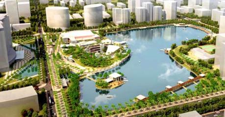 Khởi công Dự án Công viên hồ điều hòa Nhân Chính