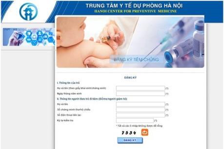 Ngày 19/5, tiếp tục đăng ký tiêm vaccine Pentaxim qua mạng