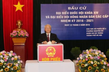 Tổng Bí thư Nguyễn Phú Trọng: Các đại biểu được bầu lần này sẽ hết lòng vì dân, vì nước