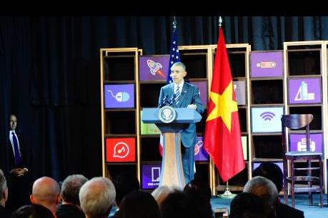 Tổng thống Obama tham quan và gặp gỡ giới Start-Up