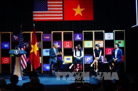 Tổng thống Barack Obama giao lưu với cộng đồng doanh nghiệp trẻ