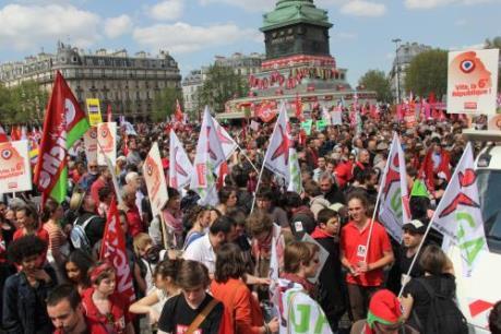 Pháp: Biểu tình lớn nhằm phản đối dự luật cải cách lao động