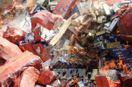 Long An thu giữ hơn 35.000 gói thuốc lá lậu