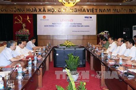 Tăng cường hợp tác truyền thông giữa TTXVN và tỉnh Bắc Giang
