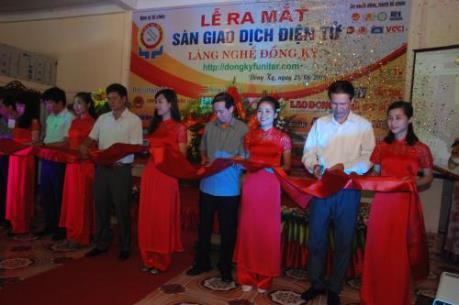 Ra mắt sàn thương mại điện tử làng nghề Đồng Kỵ