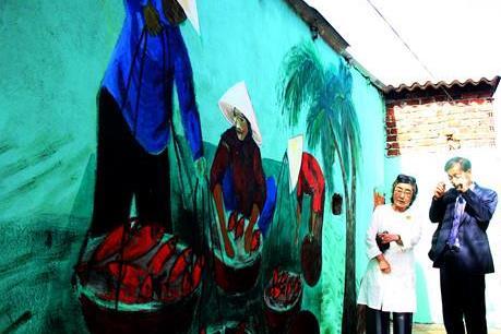 Độc đáo ngôi làng biển Trung Thanh
