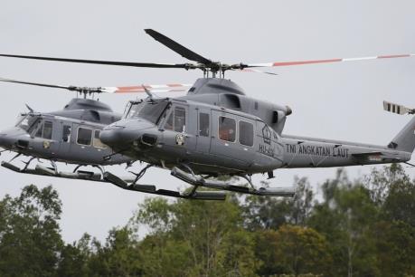 Indonesia: Rơi trực thăng quân sự khiến 2 người thiệt mạng