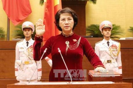 Kỳ họp thứ nhất, Quốc hội khóa XIV: Bà Nguyễn Thị Kim Ngân trúng cử Chủ tịch Quốc hội