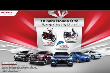 Honda Việt Nam mạnh tay chi hơn 1 tỷ đồng cho khách mua ô tô
