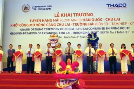Khởi công mở rộng cảng hàng hải quốc tế Chu Lai - Trường Hải