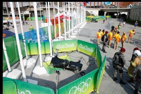 OLYMPIC 2016: Rơi máy quay khổng lồ, 7 người bị thương