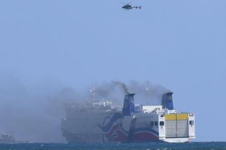Sơ tán khẩn cấp hành khách do cháy phà ở Puerto Rico