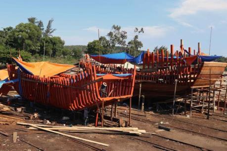 Đầu tư 33 tỷ đồng xây dựng cơ sở đóng tàu cá đánh bắt xa bờ