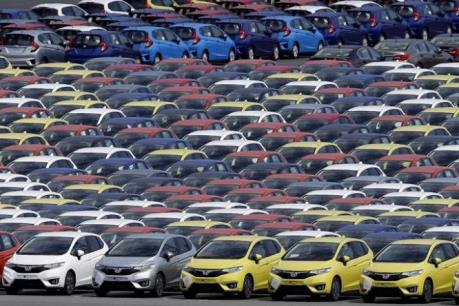 """Nhật Bản: Sản lượng ô tô của 8 """"đại gia"""" sụt giảm"""