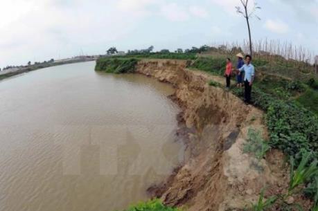 Nguyên nhân sạt lở mái đê sông Cầu - Bắc Giang