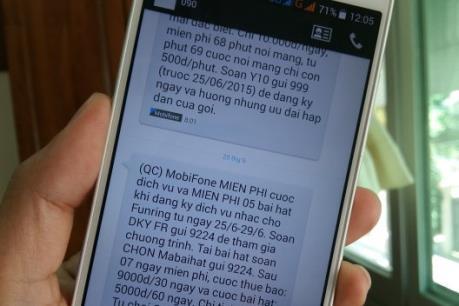 Khuyến cáo người tiêu dùng kiểm tra dịch vụ giá trị gia tăng trên điện thoại di động