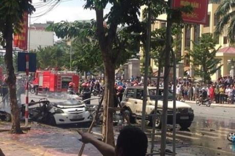 Ô tô phát nổ kinh hoàng giữa thành phố Cẩm Phả, 2 người thiệt mạng