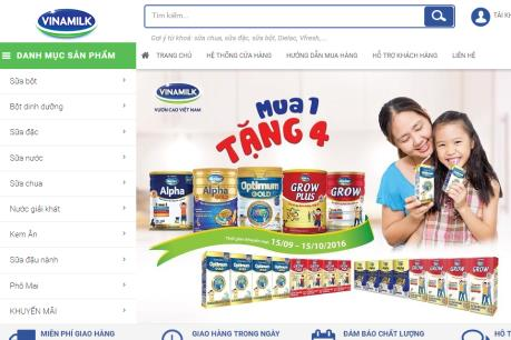 Vinamilk ra mắt website thương mại điện tử Vinamilk eShop
