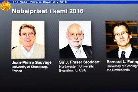 Giải Nobel Hóa học 2016 đã tìm được chủ nhân