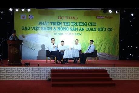 Phát triển thị trường cho gạo Việt và nông sản hữu cơ
