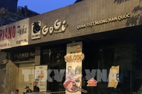 Cháy nhà hàng Gogi House trên phố Hai Bà Trưng, Hà Nội